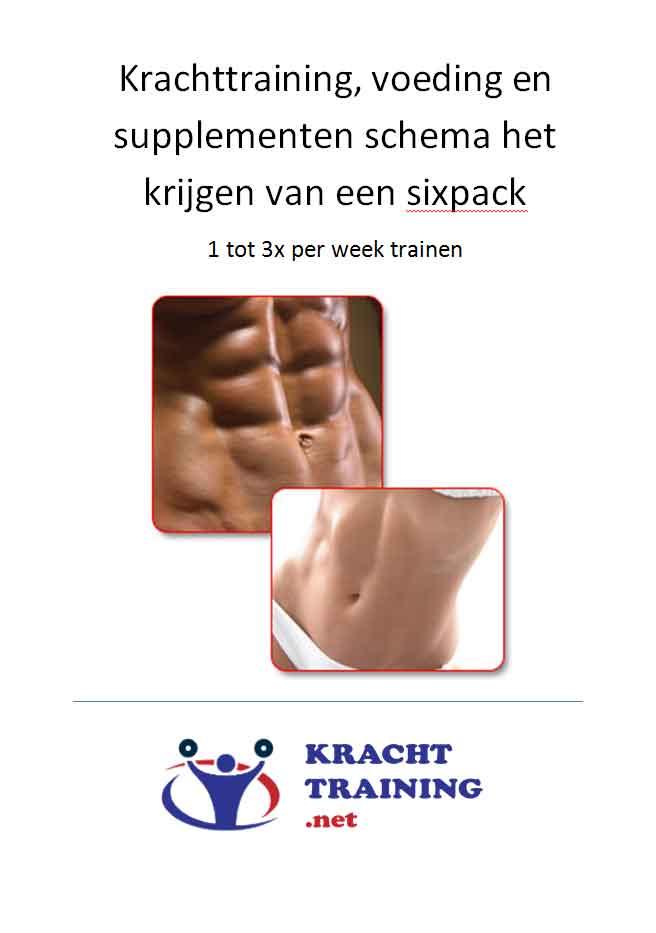 Training en voedingschema voor sixpack 1 tot 3x per week trainen