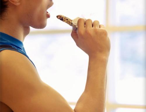 Eten tijdens krachttraining workout?