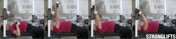 bench press stang terugleggen