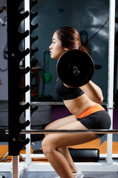 Barbell squat power rack