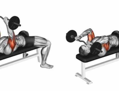 Lying triceps extension