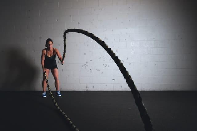 strakker lichaam battle rope training