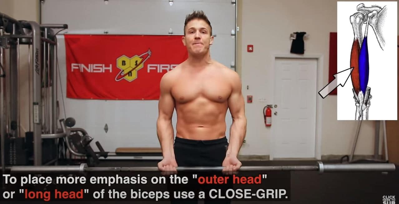 barbell curl smalle grip